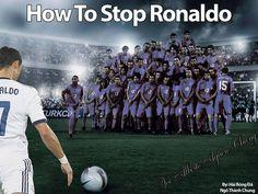 How to stop Cristiano Ronaldo, maybe. Football Jokes, Soccer Memes, Soccer Quotes, Sports Memes, Funny Soccer, Soccer Tips, Cr7 Vs Messi, Messi And Ronaldo, Ronaldo Junior