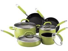 I would really love an entire set of Rachael Ray cookware. Probably black or purple, but hey, I'm not picky.