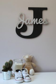 Wooden Letters, Baby Nursery Wall Hanging Letters in Script Font, Baby Name Sign, Kids Room Decor, Wood Letters Wooden Name Signs, Baby Name Signs, Wooden Names, Hanging Letters, Wood Letters, Wooden Letter Decor, Kids Letters, Wood Crafts, Diy And Crafts