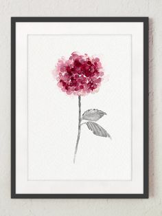 Hydrangea Home and Living Floral Front Door Abstract Flower Decor. Purple Watercolor Painting. Pink Hydrangea Housewarming Gift Idea. Spring and Summer Flowers Living Room Art Print.  Type of paper: Prints up to (42x29,7cm) 11x16 inch size are printed on Archival Acid Free 270g/m2 White Watercolor Fine Art Paper and retains the look of original painting. Larger prints are printed on 200g/m2 White Semi-Glossy Poster Paper.  Colors: Archival high-quality 10-cartridge Canon Lucia Pigme...