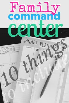 How to: GET STUFF DONE. Be organised, save money, stress less and have more time to spend time with your kids. FAMILY COMMAND CENTER – 10 OF THE BEST things to include in yours. Every family should have one.