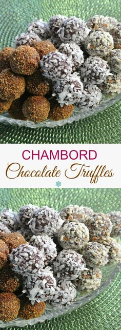 Chambord Chocolate Truffles have the famous liqueur's raspberry flavor along with deep rich chocolate. It's your choice for your favorite topping. Easy decadence!