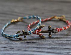 Gone Fishing Anchor Bracelet | AllFreeJewelryMaking.com