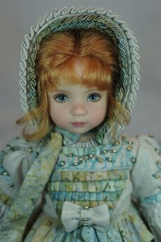 This one is a rare treat! Dianna Effner is one of my favorite doll artists of all time! She is so talented and paints in the most realistic and beautiful eyes. Of course she is then so busy it is next