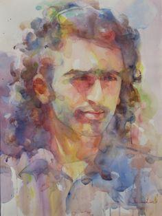 watercolor,portrait (Contemporary Painting, Watercolor, Portrait)