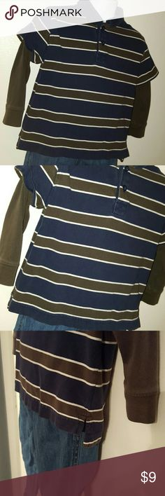 3T Collared striped shirt Sonoma 3T Collared 2 button shirt smoke free home. Sonoma Shirts & Tops Tees - Long Sleeve