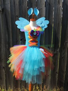 Mi pequeño Pony Rainbow Dash inspirado Tutu por CreativeConceptsByC