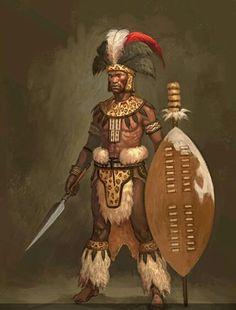 Zulu Weapons - shields ,Knop-Kerrie, short handed spear ...