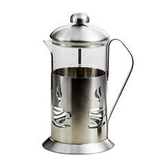 Ovente FSC French Press Coffee Maker Series (20 oz), Silver (Glass)