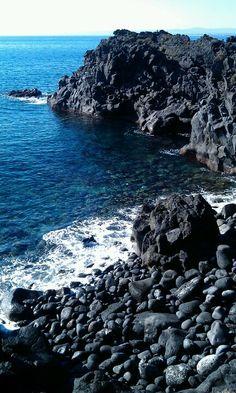 Black rocks