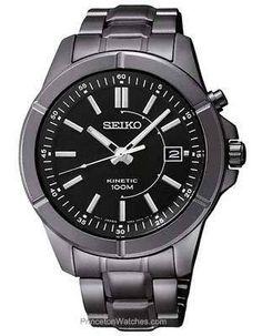 Seiko Kinetic Mens Watch Black Dial...    $179.00