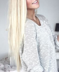 platinum blonde, love the length, too!