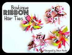Boutique Ribbon Hair Ties by DesignedbyDawnNicole, via Flickr