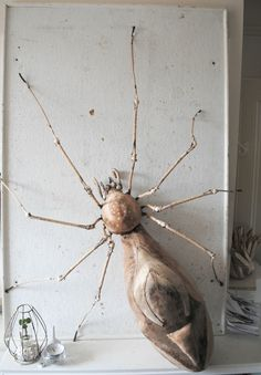 Very Large Pink Velvet Spider By Mister Finch