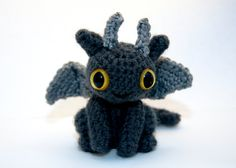 Dragon! This is Toothless from 'how to train your dragon'.... We need to make him!!