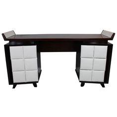 Gilbert Rohde Vanity for Herman Miller | See more antique and modern Desks at https://www.1stdibs.com/furniture/storage-case-pieces/desks