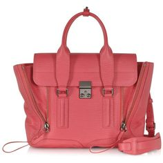 3.1 Phillip Lim Designer Handbags Raspberry Pashli Medium Satchel (25 735 UAH) ❤ liked on Polyvore featuring bags, handbags, 3.1 phillip lim handbag, red bag, 3.1 phillip lim bag, medium satchel and red hand bags