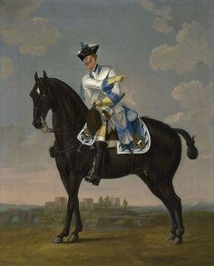 "David Morier (1705?-70) Private, Regiment of Horse ""Isenburg"" c. 1748 Oil on canvas   51.1 x 41.2 cm (support, canvas/panel/str external)   RCIN 404153"
