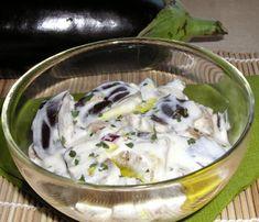 Joghurtos padlizsán recept Vitamins, Pudding, Meat, Chicken, Desserts, Recipes, Food, Tailgate Desserts, Deserts