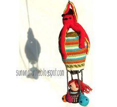 Amigurumi hot air balloon. #amigurumi #ballon