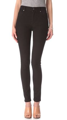 Cheap Monday Second Skin Jeans $75, in demin, white, and black