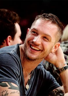 """I love people. People are lovely creatures. I'm one myself [so] I love to see people happy."" Tom Hardy"