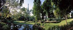 Le jardin du Trocadéro et la Tour Eiffel