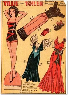 Comic book paper dolls vintage