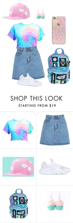 """Pink hipster; meshed with pastel grunge"" by crxativity ❤ liked on Polyvore featuring NIKE, Current Mood, Skinnydip, Spring, Hipster, Pink, pastel and PastelGrunge"