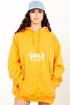 Shop our classic and comfy OG Girls Tour Hoodie in orange at Sorella Boutique. Shop all women's affordable hoodies, jackets, and sweaters now with off! Fall Outfits, Cute Outfits, Fashion Outfits, Stylish Hoodies, Going Out Outfits, Hoodie Dress, Girls Wear, Direct To Garment Printer, Swagg