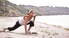 Woman-Stretch-Beach-Ocean-Fitness-Exercise
