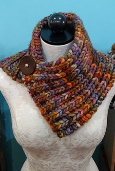 Quick Brioche Cowl pattern by Quirky Bird Knits | malabrigo Rasta in Piedras