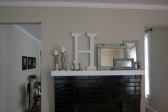 lovely little things: decorating mantle