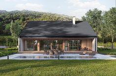 Projekt domu Murator C365j Przejrzysty - wariant X 104,5 m2 - koszt budowy - EXTRADOM My House Plans, Small House Plans, Small Barns, Minimal Home, Little Cabin, House Layouts, Scandinavian Home, Cottage Homes, Home Fashion