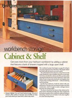 Shaker Workbench Plans - Workshop Solutions