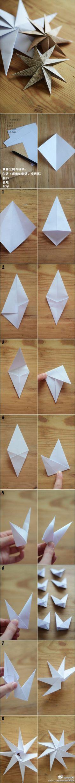 八角纸星 - 组合折纸