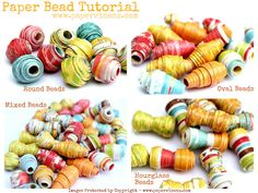 Paper Bead Tutorial - fun & easy project for the kiddos or scout troop.