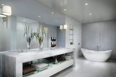 Classic White Marble Bathroom Tile Design.  Timeless!  Follow me and my boards... PinboardQueen :0)