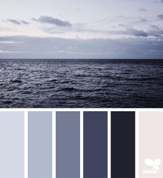 horizon tones #color #palette #designseeds #seeds #seedscolor #sea #blue #navy