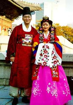 Traditional wedding hanbok