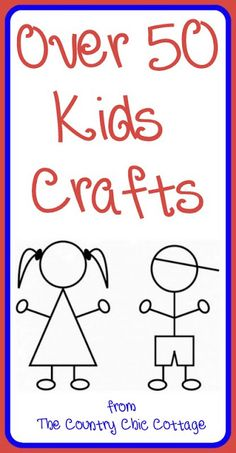 A collection of over 50 kids crafts that you must see! Pin now and browse later!