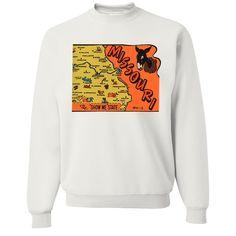 Vintage State Sticker Missouri Crewneck Sweatshirt