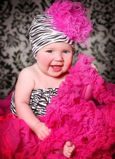 Mommy Couture Designs' couture luxury baby products have been hand selected to bring you the top picks in childrens boutique fashion for both mother and child. Baby Zebra, Pink Zebra, White Zebra, Black White, Cute Kids, Cute Babies, Children's Boutique, Cute Photos, Zebra Print
