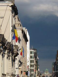Bruxelles rue Royale fête Nationale