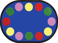 Lots Of Dots Classroom Rug Border | JC1430X | Joy Carpets