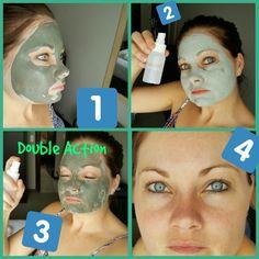 Nu Skin Marine Mud Mask and Moisture Mist-Double Action Marine Mud Mask, Nu Skin, Skin Products, Mists, Moisturizer, Action, Face, Moisturiser, Group Action