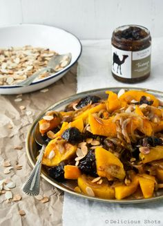 Roasted Butternut squash with Caramelized Onion and Tanzeya by deliciousshots: Tanzeya is a spice, dried fruit medley. #Butternut_Squash #Onion