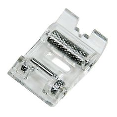 Clear Roller Rolling Presser Foot Attachment for Viking HuskyStar H Class Sewing Machine ~ Great for Leather, Vinyl, Suede, Synthetic Fabric Sewing Machine Presser Foot, Sewing Machine Parts, Diy Couture, Couture Sewing, Techniques Couture, Sewing Techniques, Brother Sewing Machines, Janome, Jars