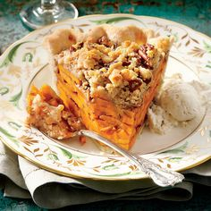 Dazzling Thanksgiving Pies: Sliced Sweet Potato Pie
