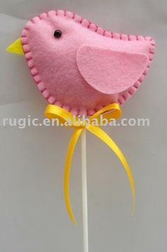 Cute felt Easter chick.